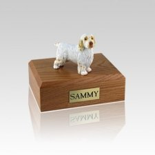 Clumber Spaniel Small Dog Urn