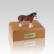 Clydesdale Small Horse Cremation Urn