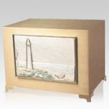 Coastal Bronze Cremation Urn
