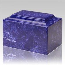Cobalt Marble Keepsake Cremation Urn