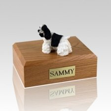 Cocker Black & White Dog Urns