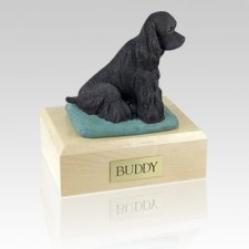 Cocker Black Dog Urns