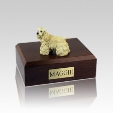 Cocker Blond Standing Large Dog Urn
