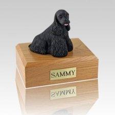 Cocker Spaniel Black Large Dog Urn