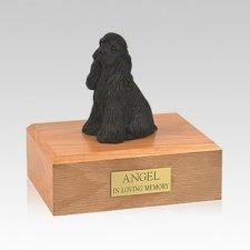 Cocker Spaniel Black Sitting Medium Dog Urn