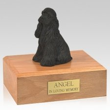 Cocker Spaniel Black Sitting Dog Urns