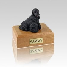 Cocker Spaniel Black Small Dog Urn