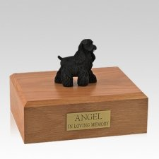 Cocker Spaniel Black Standing Large Dog Urn