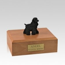 Cocker Spaniel Black Standing Medium Dog Urn