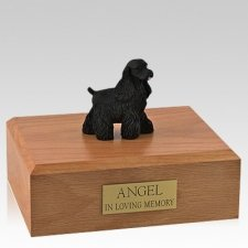 Cocker Spaniel Black Standing Dog Urns