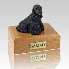 Cocker Spaniel Black X Large  Dog Urn