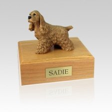 Cocker Spaniel Buff Large Dog Urn