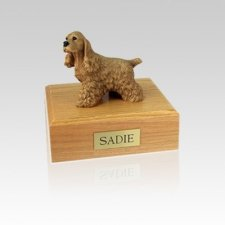 Cocker Spaniel Buff Small Dog Urn