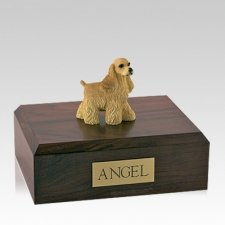 Cocker Spaniel Buff Standing Large Dog Urn