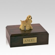 Cocker Spaniel Buff Standing Medium Dog Urn