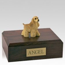 Cocker Spaniel Buff Standing Dog Urns