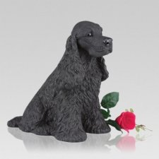 Black Cocker Spaniel Cremation Urn