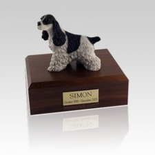 Cocker Spaniel Spotted Medium Dog Urn