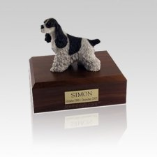 Cocker Spaniel Spotted Small Dog Urn
