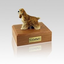 Cocker Spaniel Tan Small Dog Urn