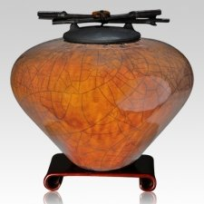 Raku Coffee Multi Family Cremation Urn