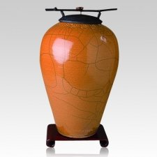 Raku Tall Coffee Cremation Urns