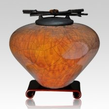 Raku Coffee Extra Large Cremation Urn