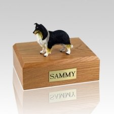 Collie Black White & Red Dog Urns