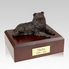 Collie Bronze Large Dog Urn