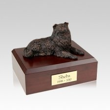 Collie Bronze Medium Dog Urn