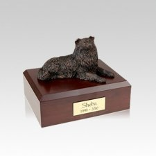 Collie Bronze Small Dog Urn