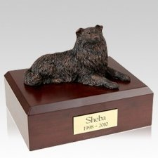 Collie Bronze X Large Dog Urns