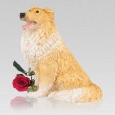 Collie Cremation Urn