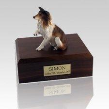 Collie Paw Up Large Dog Urn