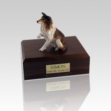 Collie Paw Up Small Dog Urn