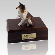 Collie Paw Up X Large Dog Urn