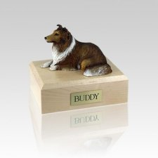Collie Sable Small Dog Urn