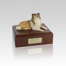 Collie Small Dog Urn