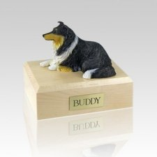 Collie Tri-Color Large Dog Urn