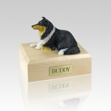 Collie Tri-Color Medium Dog Urn