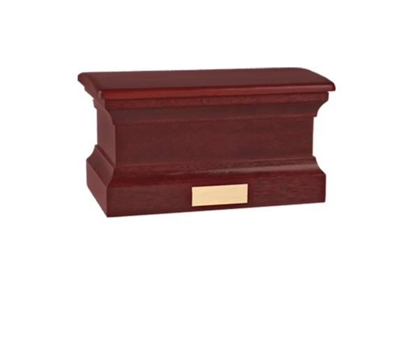 Colonnade Bourbon Wood Cremation Urn