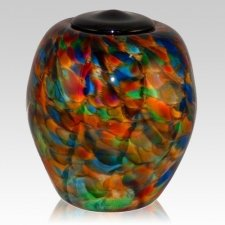Color Blast Glass Cremation Urn