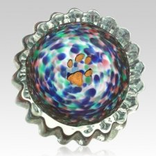 Color Swirl Pet Keepsake Urn