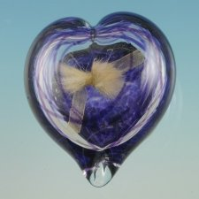 Colorburst Heart Glass Keepsake