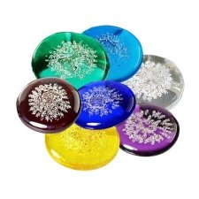 Colorful Glass Pet Cremation Touchstones