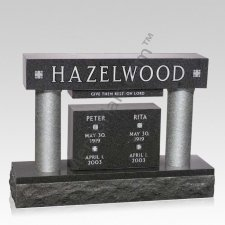 Column Memorial Companion Granite Headstone