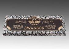 Swans Devotion Grave Marker