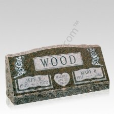 Companion Slant Granite Gravestones