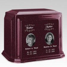 Millennium Burgundy Companion Marble Urn