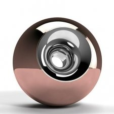 Copper Chrome Orb Urns